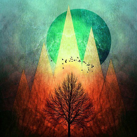 TREES under MAGIC MOUNTAINS II van Pia Schneider