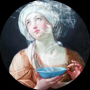 Portrait of a woman in ecstasy van Rudy & Gisela Schlechter