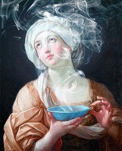 Porträt einer Frau in Ekstase