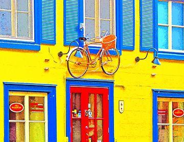 Fahrrad an der Fassade von Leopold Brix