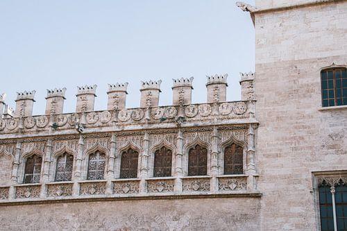 Mooie oude gebouwen in de oude stad Valencia , Spanje