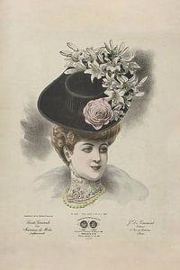 Dame mit Hut II von Andrea Haase