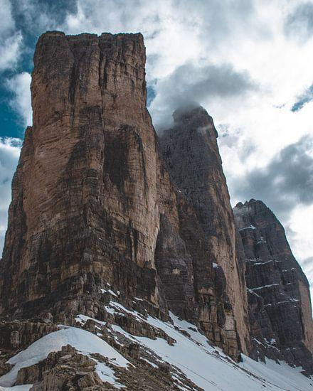 Drei zinnen in the Dolomites van michael regeer