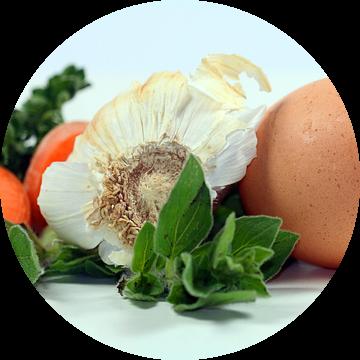 Vegetable + Egg van Roswitha Lorz