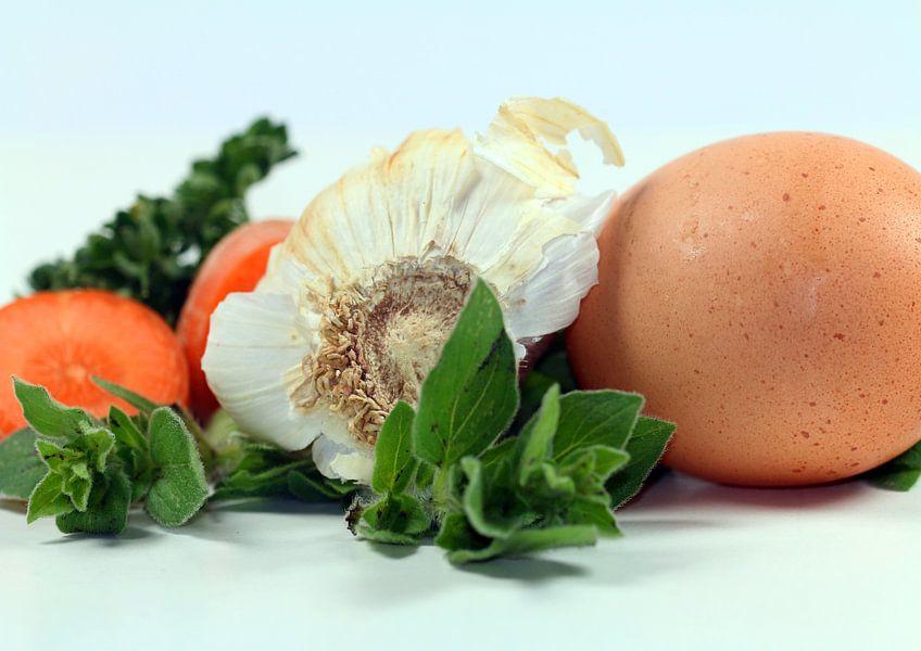 Vegetable + Egg van Rosi Lorz