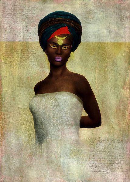 Vrouw van de wereld - Afrikaanse vrouw van Jan Keteleer