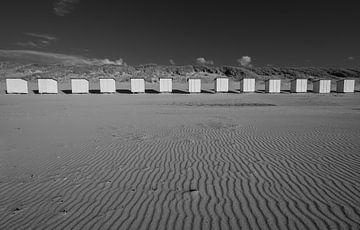 Strandhuisjes Nieuwvliet van Peter Deschepper