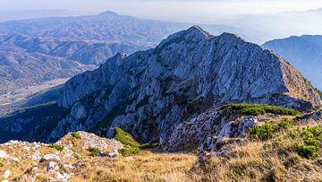 Bergtoppen van Piatra Craiului in Roemenië van Jessica Lokker