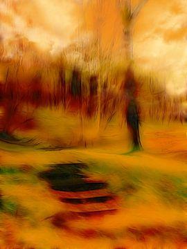 Stufen im Wald 111 von Claudia Gründler