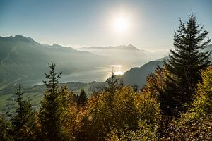 Herfst in de Zwitserse Alpen. Berner Oberland.