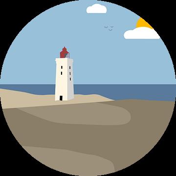 Rubjerg Knude vuurtoren, Denemarken van Bart Sallé