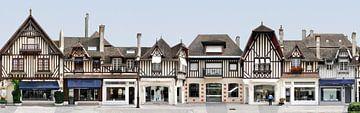 Deauville Fachwerk | Rue de Casino von Panorama Streetline
