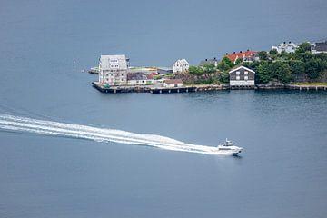 Boat in Alesund van Rico Ködder