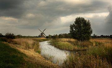 Molen in de provincie Groningen  (3) van Bo Scheeringa Photography