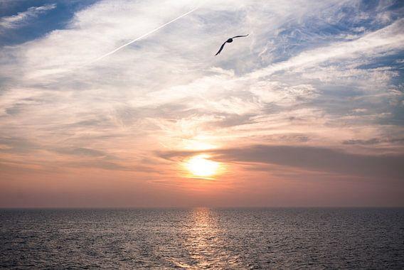Zonsondergang op de Waddenzee