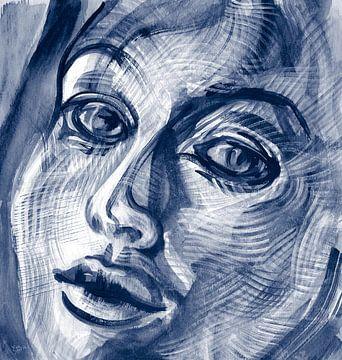 Bewegende emoties van een vrouw van ART Eva Maria