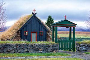 IJslands turf kerkje van