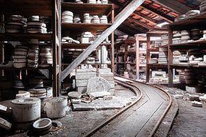 Usine de céramique abandonnée.