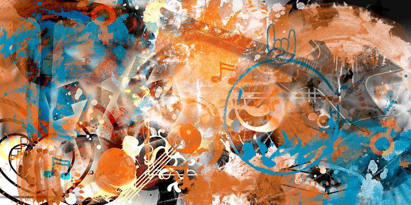 Modern-Art Beyond Control II van Melanie Viola