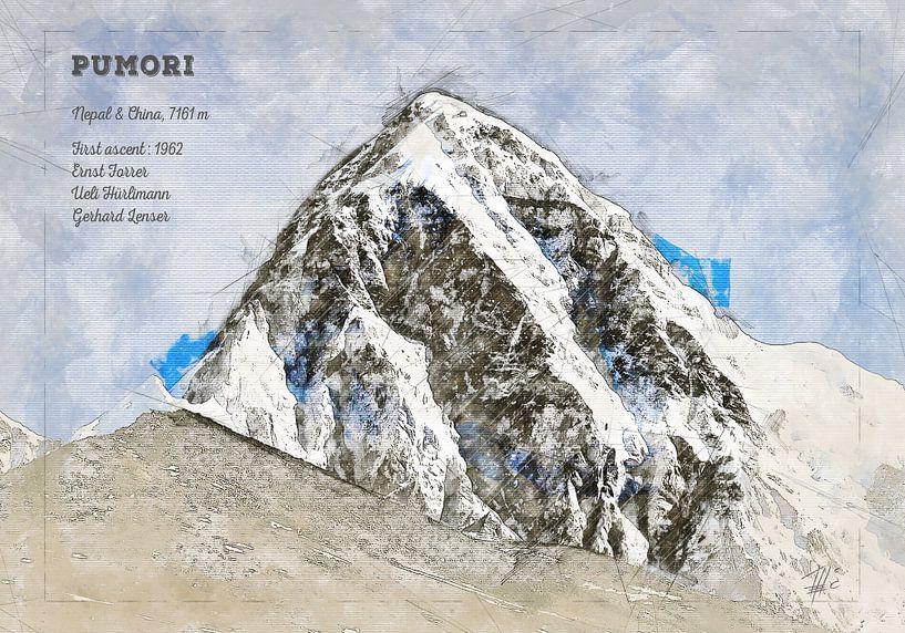 Pumori, Nepal / China von Theodor Decker