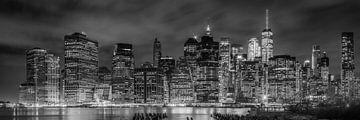 NEW YORK CITY Skyline bei Nacht | Panorama von
