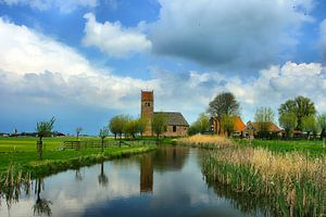 Kerkje in Westhim (Westhem)  Friesland
