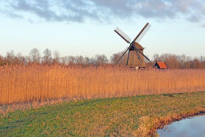 Holland landschapsbeeld met molen van Ronald Smits