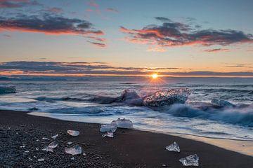 Plage de diamants en Islande sur Dieter Meyrl