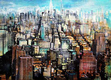 """New York,  Midtown, Blick von Greenwich Village """"Liza"""" von Johann Pickl"""