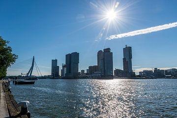 Zicht op de skyline van Rotterdam, De kop van Zuid van Patrick Verhoef