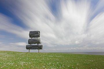 Granit aus dem Meer - Segel von Albert Wester Terschelling Photography