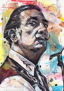 Salvador Dali peinture sur Jos Hoppenbrouwers