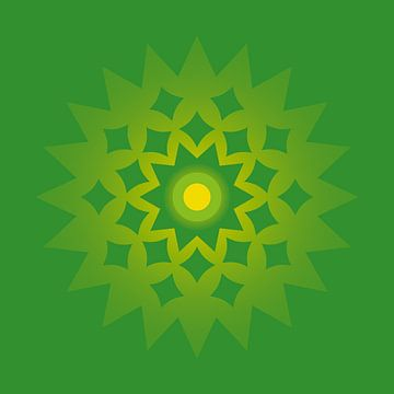 Abstract green van Vanessa Devolder