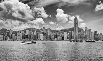 Hongkong skyline van Patrick Verheij