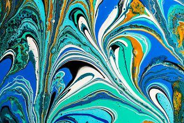 Acryl kunst 1986 von Rob Smit