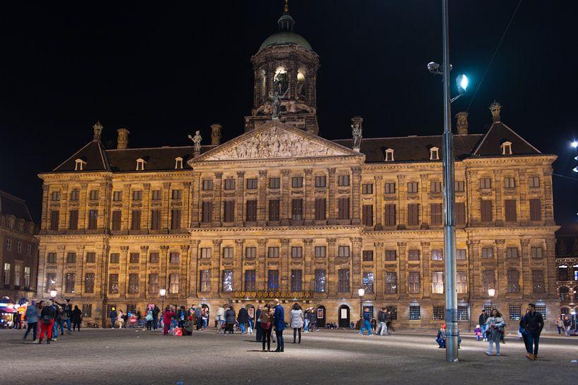 Paleis op de Dam in Amsterdam van Brian Morgan