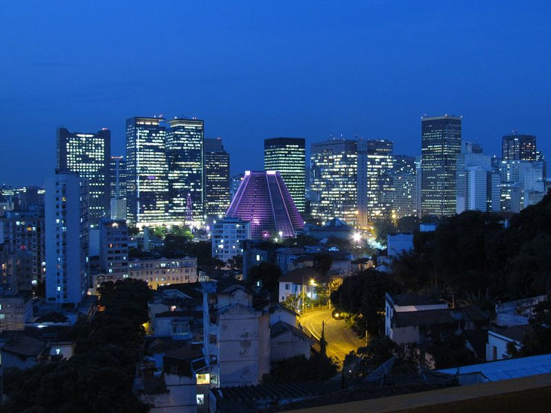 Lapa (Rio de Janeiro) in de nacht van Bart Muller