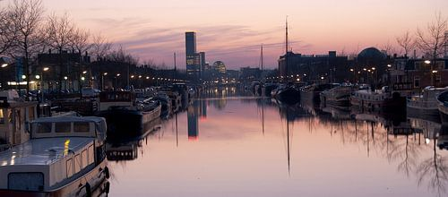 Uitzicht op de Achmeatoren, Leeuwarden von Lisette Breur