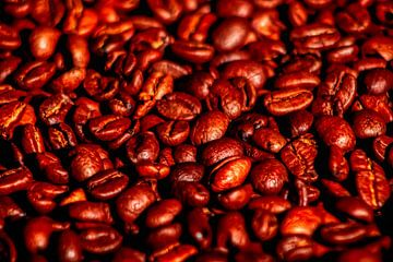 Kaffeebohnen in Makroform von Liberty Ragazza Biesma