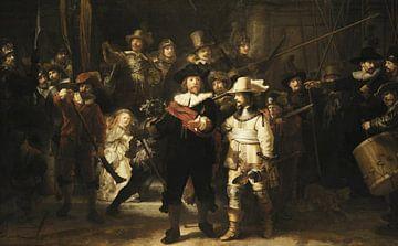 Uitsnede De Nachtwacht,Rembrandt van Rijn sur