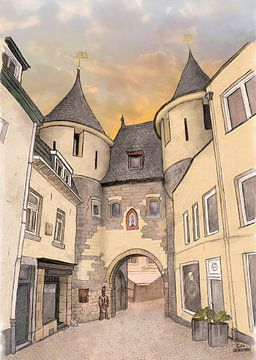 Oeuvres d'art : Valkenburg, The Block Gate sur Edo Illustrator