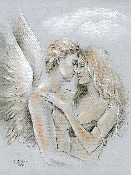 Highway to Heaven - peinture d'ange sur Marita Zacharias