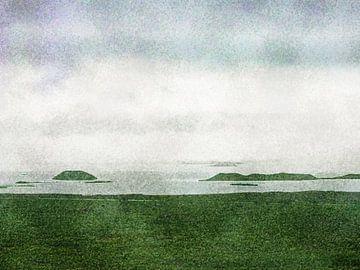 Pseudokrater im Myvatn-See, Island von Frans Blok