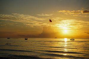 Zonsondergang in Jamaica van