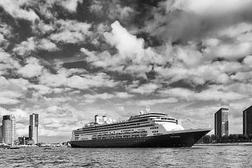 Holland Amerika Lijn cruiseschip De Rotterdam verlaat Rotterdam sur Michèle Huge