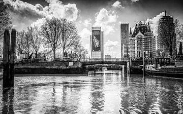 Zicht op Oudehaven vanuit Haringvliet Rotterdam van huub claessens