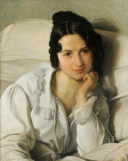 Portret van Carolina Zucchi, Francesco Hayez