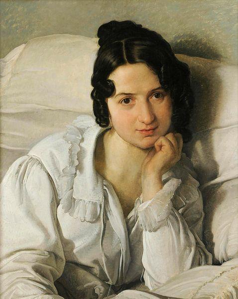 Portret van Carolina Zucchi, Francesco Hayez van Meesterlijcke Meesters