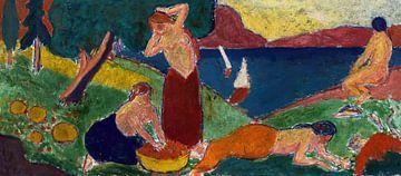 Frauen in der Landschaft, Carl Newman
