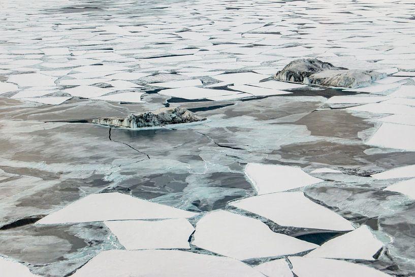 Luchtfoto ijsstructuren McMurdosound van Eefke Smets